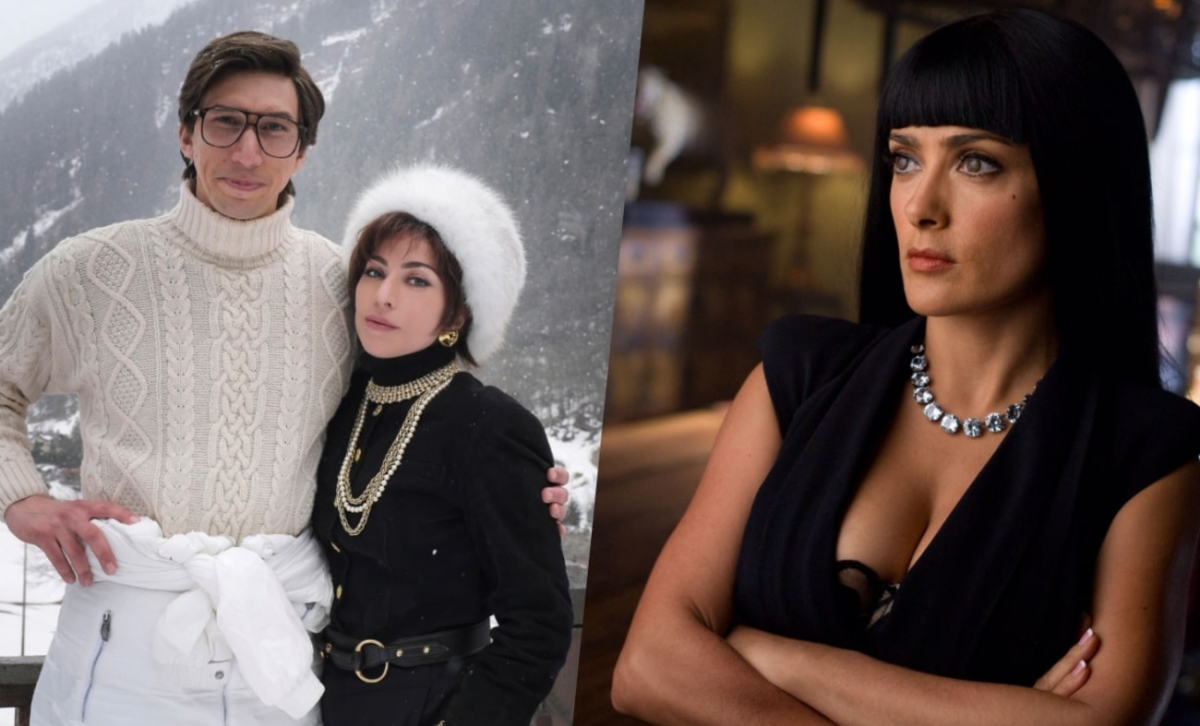 Salma Hayek Joins Lady Gaga Adam Driver In Ridley Scott S House Of Gucci Spotted On Set The Ronin